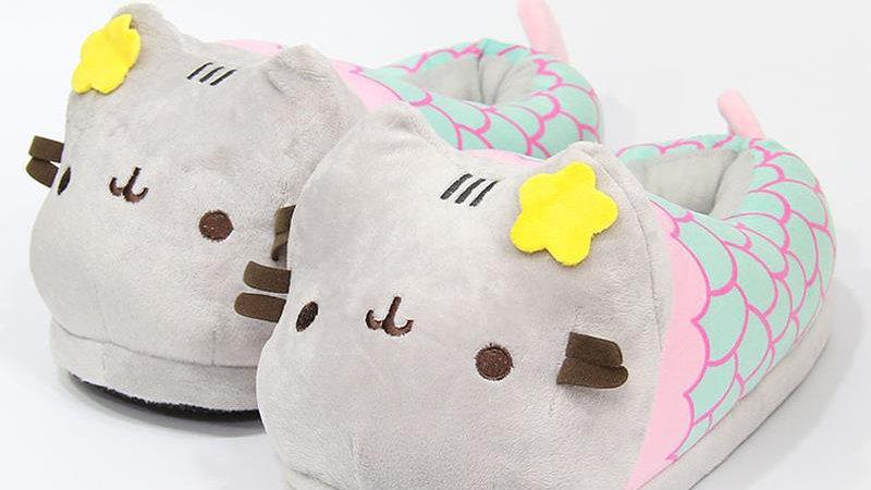 Women's Plush Kitty Slippers