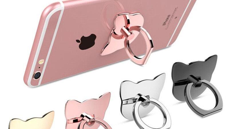 Cat Finger Ring Mobile Phone Holder