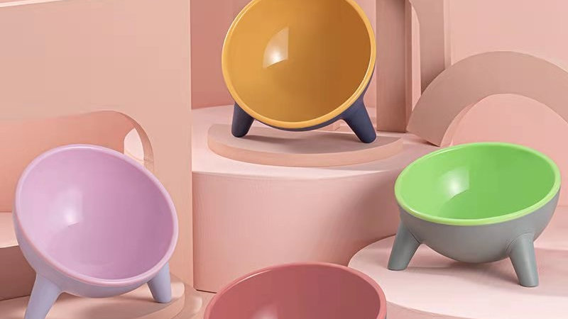 Colourful Kitty Food Bowls