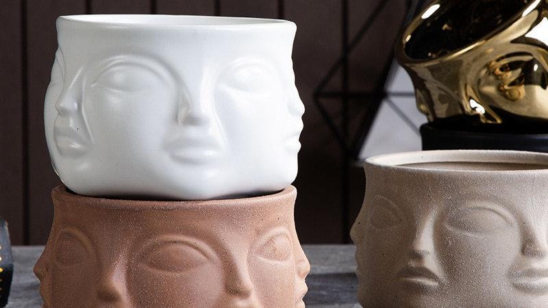 Ceramic Portrait Vases