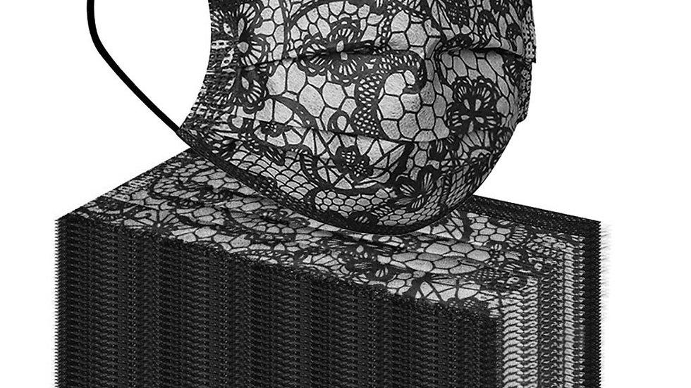 50PC Adult Lace Disposable Face Masks