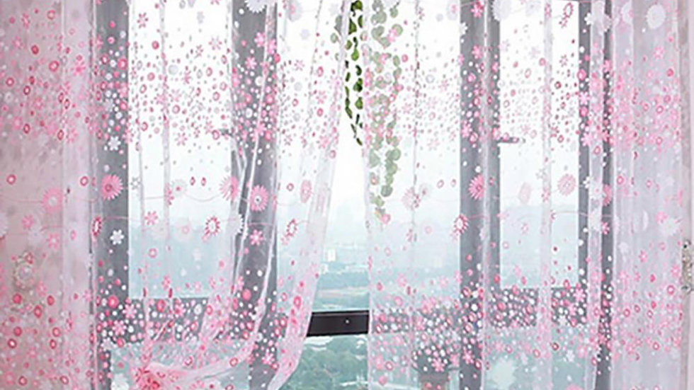 Floral Tulle Voiles