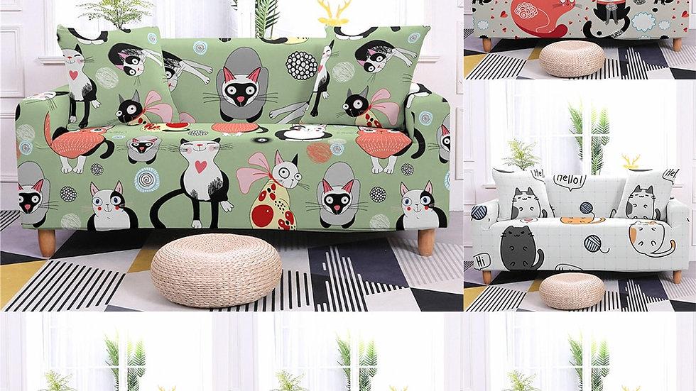 Cute Cartoon Cat Sofa Covers