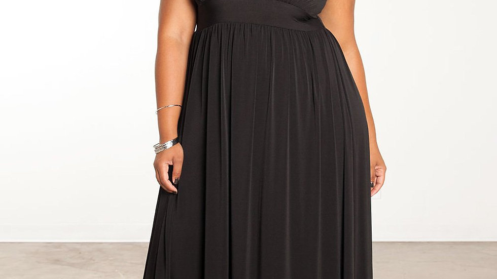 Maxi Size Black Dress