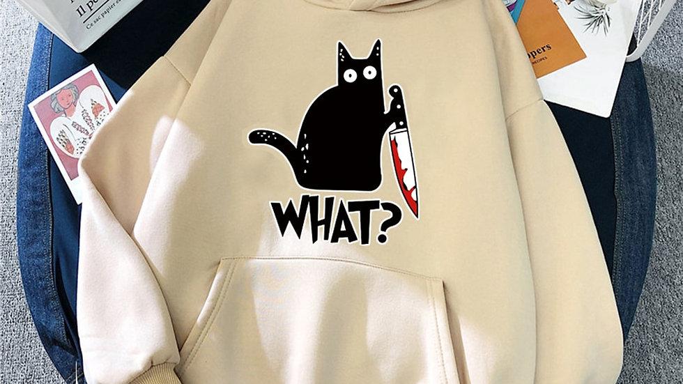 Woman's Funny Kitty Sweatshirt