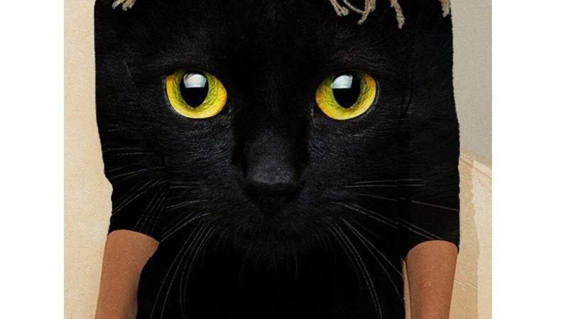 Casual Cute Cat Long Sleeved T-Shirt