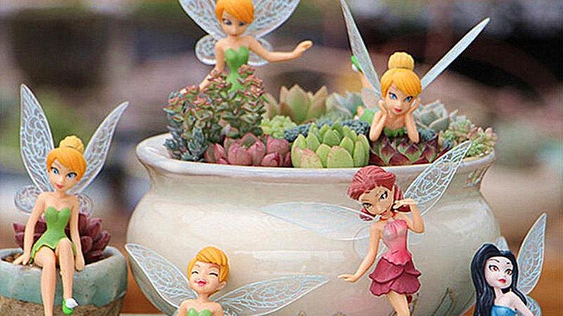 6Pcs Tinker Bell Fairy Ornaments