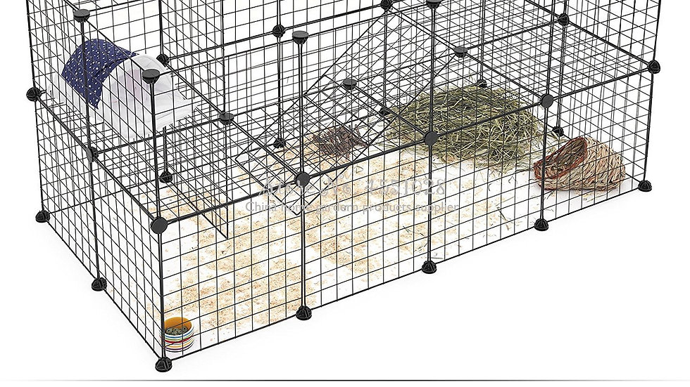 Small Multi-Function Metal Wire Pet Cage