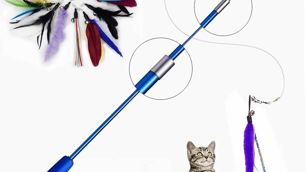 Interactive Cat Feather
