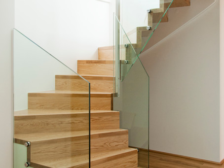 Types of materials used for stairs.
