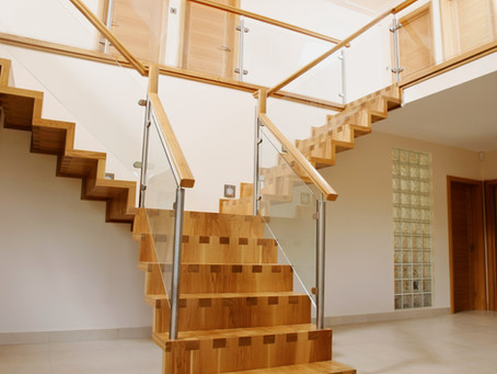 Types of stairs depending on the layout