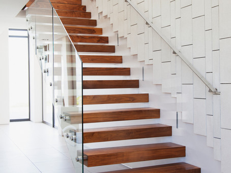 Types of stairs depending on the construction