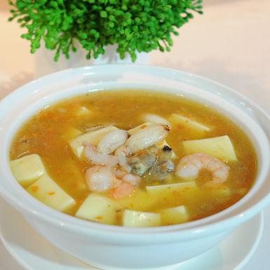 【東方龍】蟹黃海鮮豆腐