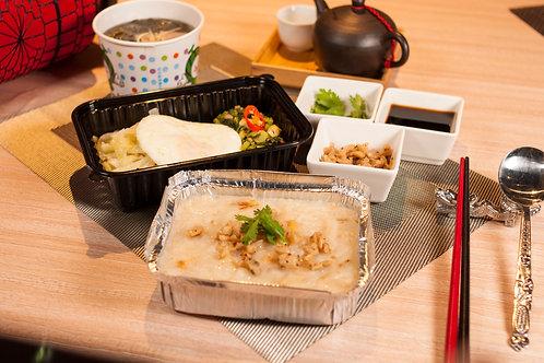 【東方龍】古早味米食便當 古早味蒸蘿蔔糕