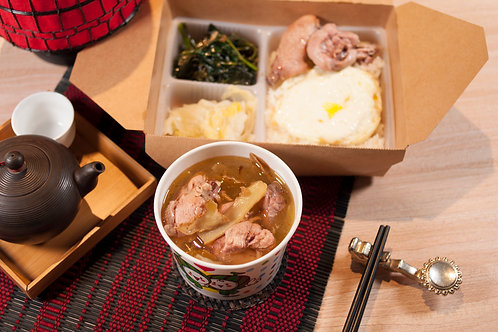 【東方龍】元氣健康便當|麻油雞飯