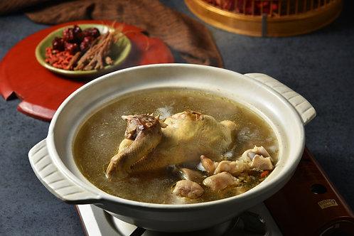 【東方龍】人參糯米養生雞湯