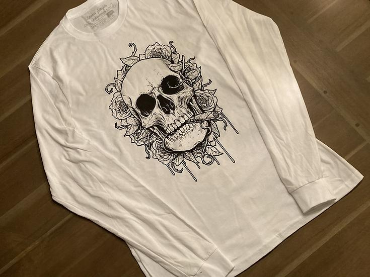 Skulls n' Roses long sleeve  (Made In USA)