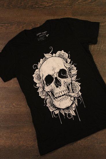 Skulls and roses womens shirt (Black)
