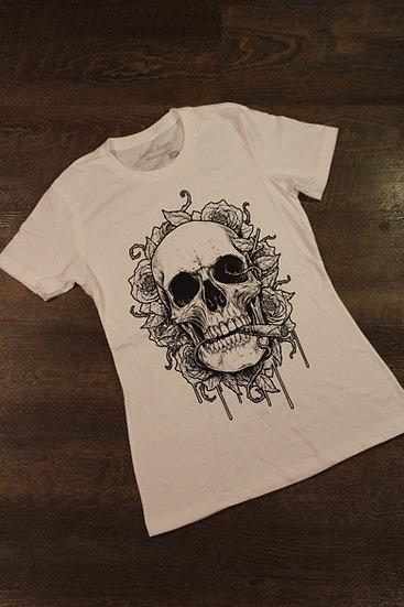 Skulls and Roses Womens design (White)
