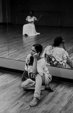 En ensayo con Petra Bravo (Foto Ricardo