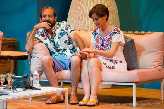 René Monclova y Cristina Soler (Escena