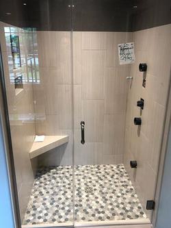 Headerless Swinging Shower Door
