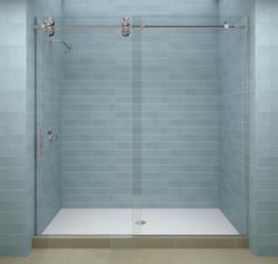 Headerless Sliding Shower Door