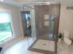 Swinging Shower Door With Header
