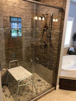 Handicap Accessible Swinging Shower