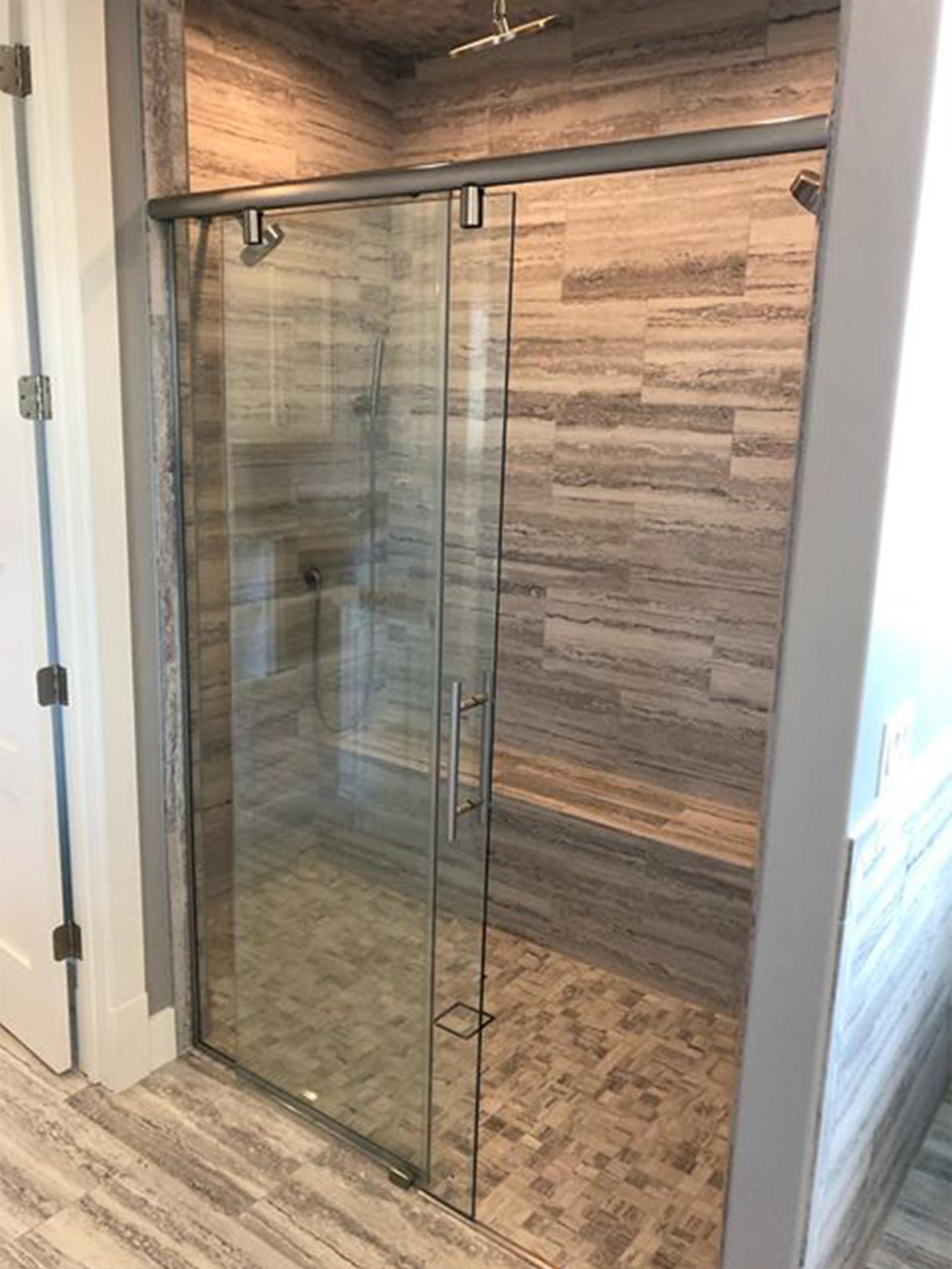 Sliding Shower Door With Header
