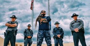 A Guitar Hero Visits Highyway Patrol Heros