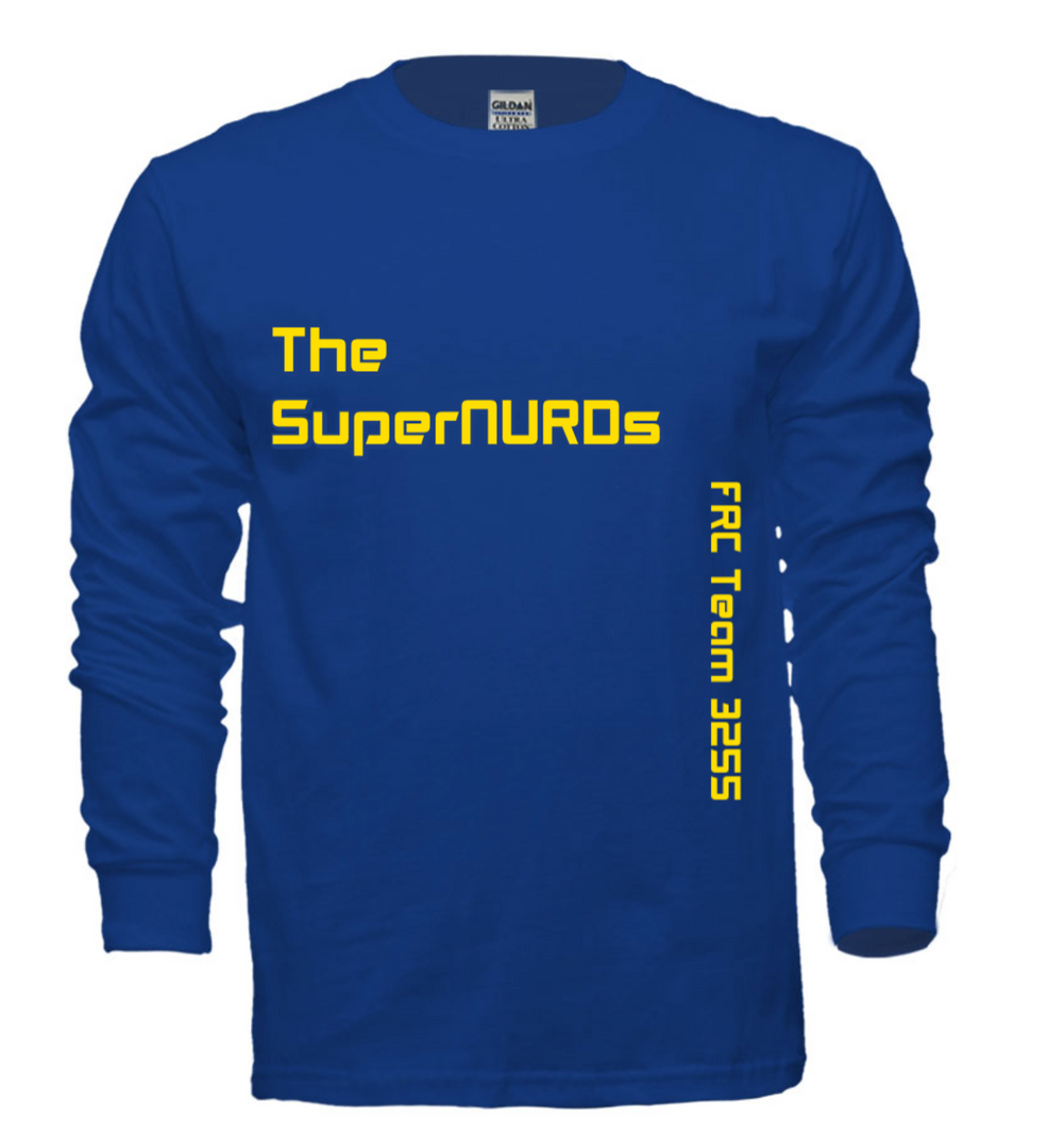 SuperNURDs Blue Long Sleeve