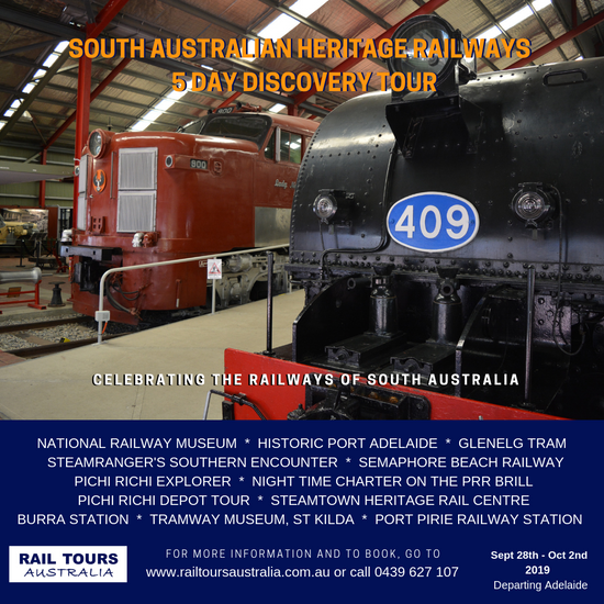 Discover the South Australian Heritage Railways with Rail Tours Australia this September