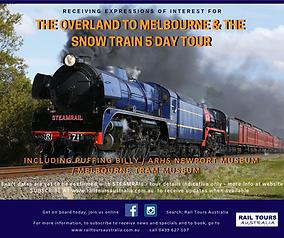 2019 Rail Tours Australia  SNOW TRAIN OV