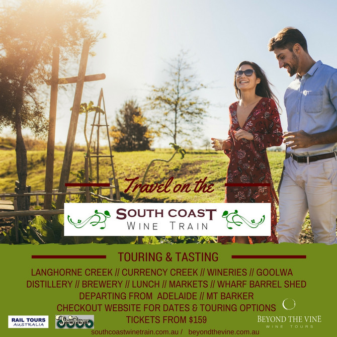 The South Coast Wine Train tour gets ready for the first departure of the season