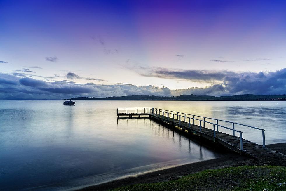 Lake Taupo in beautiful twilight in the