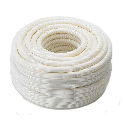 ท่ออ่อนลายลูกฟูก สีขาว 16 mm