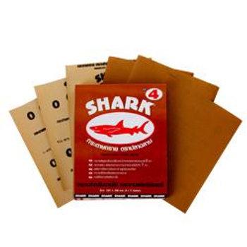 กระดาษทรายขัดไม้ ตราปลาฉลาม #0 #1 #2 #3 #4 #5