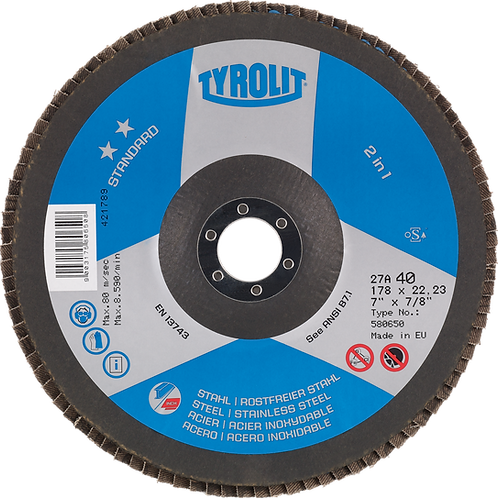 Tyrolit Flap Disc 27A 4.5""