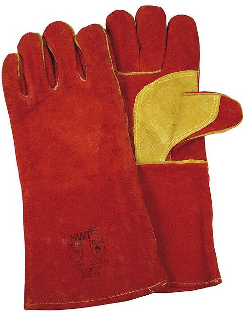 Red Welder's MIG Leather Gauntlets