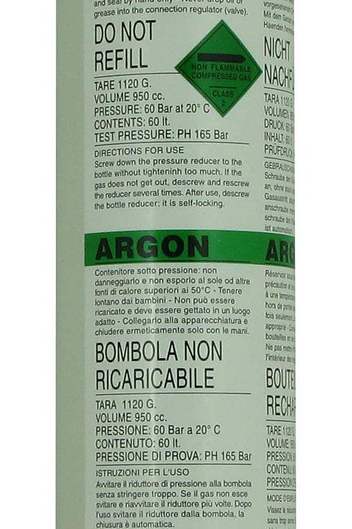 60lt Argon Disposable Gas Cylinder