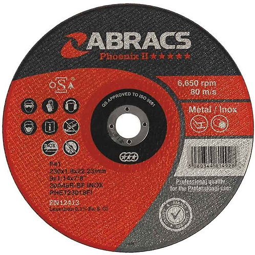 Abracs Phoenix II Extra Thin Flat Cutting Disc INOX 75x1x10mm