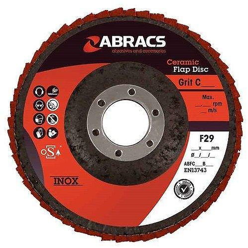 Abracs Ceramic Expert Flap Disc 115mm 10pc Pack
