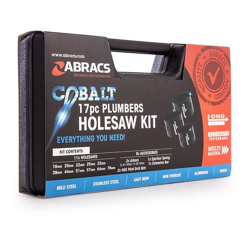 Abracs 17pc Plumbers Cobalt  Holesaw Kit