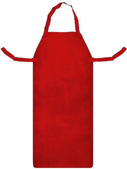 Red Leather Protective Aprons with Ties