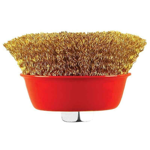Abracs M14 Thread 75mm Crimped Wire Cup Brush