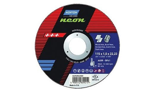 Norton Neon 115x1x22,23mm INOX Cutting Discs