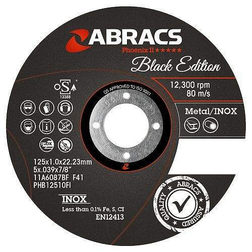 Abracs Phoenix II Black Edition 115x1.0x22mm INOX (Bulk)