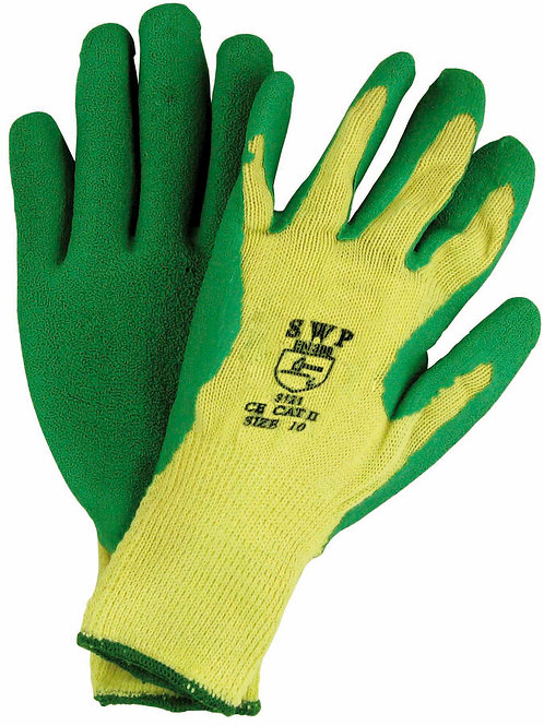 Dipped Gripper Gloves Green Pack of 10 pairs