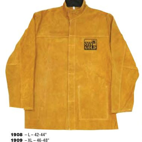 SWP Premium Gold Leather Welders Jacket
